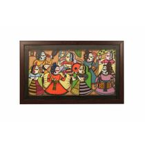 Cocovey Handmade Rajasthani Phad Art Painting Collage (HWP111035), multicolor