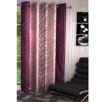 India Furnish Eyelet Polyester Curtain Long Door Length - Set Of 1 Pcs (IFCUR15010La), wine