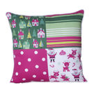Monogram Multicolour Square Polyester With Digital Print Cushion Cover Set - 5 Piece (552A1819)
