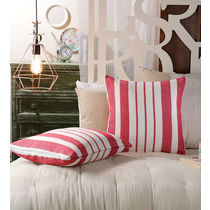 Swhf Cushion Cover - Red Stripes - Set Of 2