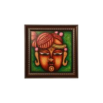 Cocovey Lord Shreenath Rajasthani Style Handmade Painting (HWP111013), multicolor