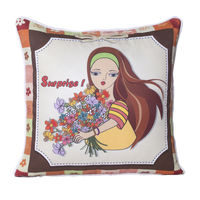 Monogram Multicolour Square Polyester With Digital Print Cushion Cover Set - 5 Piece (552A1821)
