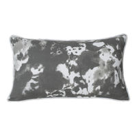 Monogram White Rectangular Cotton Hand Print Cushion Cover Set - 5 Piece