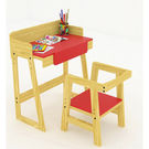 Ginnie & Ginnie Kinderjoy Study Table & Chair-Red