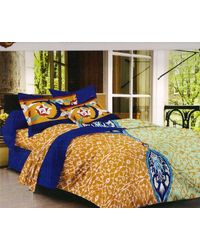 Valtellina Cotton King Size 1 Double Bedsheet With 2 Pillow Covers (TR_ LV-016), multicolor