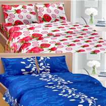 Cortina Premium Set Of 2 Bed Sheet (PRDP-036), multicolor