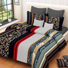 Ahmedabad Cotton Basics Cotton Double Bedsheet With 2 Pillow Covers (ACB20D00043)