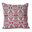 Monogram Red Square Cotton Printed Cushion Cover Set - 5 Piece