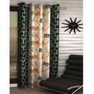 India Furnish Eyelet Polyester Curtain Long Door Length - Set Of 1 Pcs (IFCUR15015La),  green