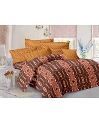 Valtellina Cotton King Size 1 Double Bedsheet With 2 Pillow Covers (TR_ LV-009), multicolor