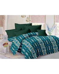 Valtellina Cotton King Size 1 Double Bedsheet With 2 Pillow Covers (TR_ LV-008), multicolor