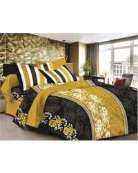 Valtellina Cotton King Size 1 Double Bedsheet With 2 Pillow Covers (TR_ LV-004), multicolor