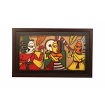 Cocovey Handmade Rajasthani Phad Art Painting Collage (HWP111037), multicolor