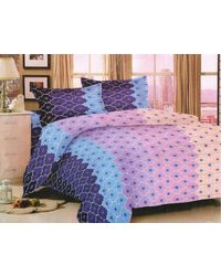 Valtellina King Size 1 Double Bedsheet With 2 Pillow Covers (NMJS-018), multicolor