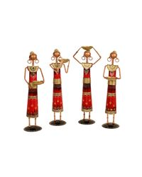 Antique Red Lady Farmer Set (HSP111046), multicolor