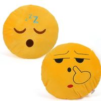 Cortina Cortina Smiley Cushion Set Of 2 (SC-SO2-009),  yellow