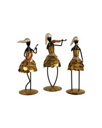 Antique Gold Frock Musicians (HSP111047), golden