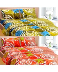 Cortina Premium Set Of 2 Bed Sheet (PRDP-034), multicolor