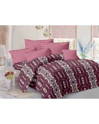Valtellina Cotton King Size 1 Double Bedsheet With 2 Pillow Covers (TR_ LV-010), multicolor
