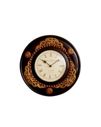 Cocovey Ethnic Wall Clocks (C111014_ 6), golden and black