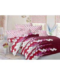 Valtellina Cotton King Size 1 Double Bedsheet With 2 Pillow Covers (TR_ LV-007), multicolor