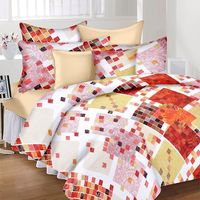 Ahmedabad Cotton Basics Cotton Double Bedsheet With 2 Pillow Covers (ACB20D00135)