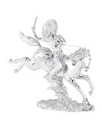 Shaze Silver Indian Chief On Jumping Horse,  silver