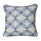 Monogram Off White Square Cotton With Hand Embroidery Cushion Cover Set - 5 Piece