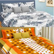 Cortina Premium Set Of 2 Bed Sheet (PRDP-029), multicolor