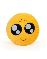 Cortina Looking Smiley Pillow (SC-012),  yellow