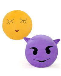 Cortina Cortina Smiley Cushion Set Of 2 (SC-SO2-017), multicolor