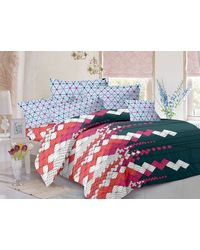 Valtellina Cotton King Size 1 Double Bedsheet With 2 Pillow Covers (TR_ LV-006), multicolor