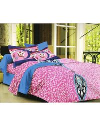 Valtellina Cotton King Size 1 Double Bedsheet With 2 Pillow Covers (TR_ LV-015), multicolor