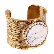Shaze Anti Gold-Plated White Lime Cuff