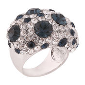 Shaze Silver-Plated Bold Dalmation Ring