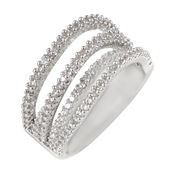Shaze Silver-Plated Patterned Ring