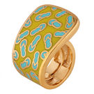 Shaze Gold-Plated Chappal Ring