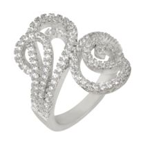 Shaze Silver-Plated 2 Loop Ring