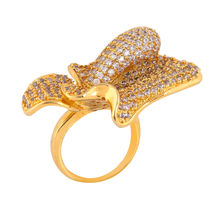 Shaze Gold-Plated Bud Ring
