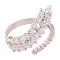 Shaze Silver-Plated Mineral Ring