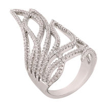 Shaze Silver-Plated Ziggy Ring