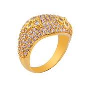 Shaze Gold-Plated Floral Ring
