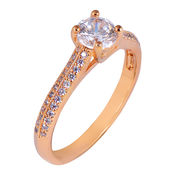 Shaze Gold-Plated Angel Ring