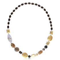 Shaze Shades Of Brown Necklace