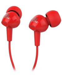 JBL C150SI In Ear Wired With Mic Earphones,  red