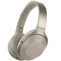 Sony MDR-1000X Wireless Noise Cancelling Headphones,  gold