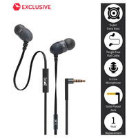 Boat BassHeads 200 Extra Bass In Ear Wired Earphones With Mic,  black