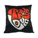 Ultra Premium Printed True Love Cushion (1240UST),  black