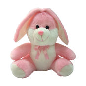 Ultra Sitting Bunny Soft Toy 11 Inches (1044UST),  pink