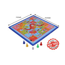 Itoys Doraemon 2 In 1 My First Fun Board-Write White Board With Snakes & Ladder Game,  blue